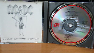 AC/DC Flick Of The Switch CD ORG TELDEC WG Atlantic 780 100-2 Hard Rock