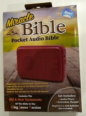 Miracle Bible Pocket Audio Bible King James Version Old & New Testament