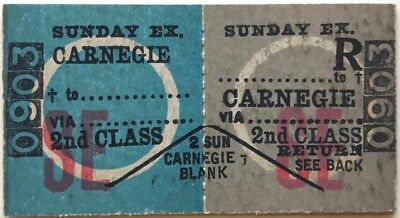 VR Ticket - CARNEGIE to ..................... - 2nd Class Sunday Excursion