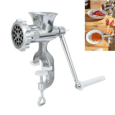 Heavy Duty Manual Sausage Maker Meat Mincer Grinder Hand Operated Kitchen Tool