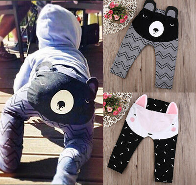 NEW Baby Toddler Boys Girls Cotton  Leggings PP Pant  0-24 Months Sweatpants
