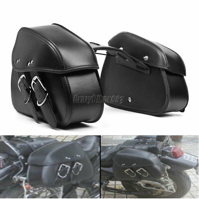 Motorcycle PU Leather Saddlebag For Harley Electra Glide Road King XL 1200 883