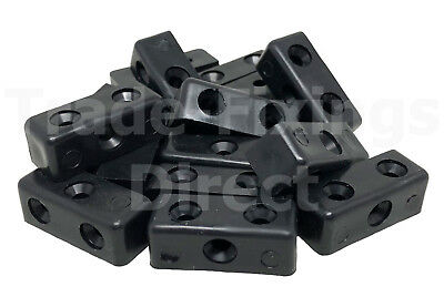 Black Modesty Blocks Furniture, Cabinet & Cupboard Joint Connector Blocks Fixit