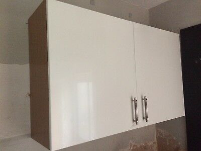 Pair Of White Gloss Kitchen Cupboard Doors Cabinet From B Q