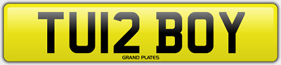 Turbo number plate TU12 BOY TURBO Y CHERISHED REGISTRATION SPEED FAST RACE REG