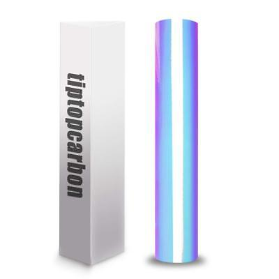 Holographic Chrome Vinyl Roll Permanent Adhesive Craft 1x5ft Opal White