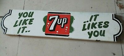 """Porcelain 7 Up looks like it  Enamel  Sign SIZE 30"""" X 7"""" INCHES"""