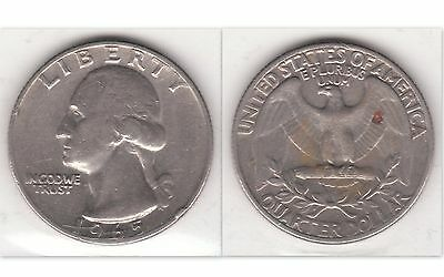 United States 25 Cents 1965 Copper-Nickel Clad Copper Coin  - George Washington