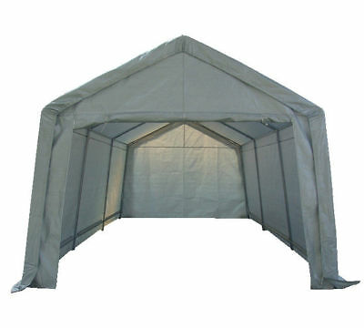 Portable Garage Carport Shelter Car Port Canopy  3m x 6m Galvanised Frame White`