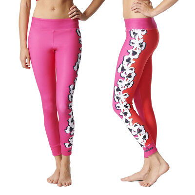 adidas Womens Stella McCartney Yoga Flower Print Tight Graphic Gym Leggings Pink