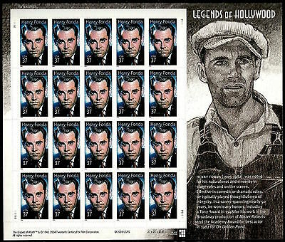2005 HENRY FONDA Legends of Hollywood Series #11 Mint Sheet 20 x 37¢ STAMPS 3911