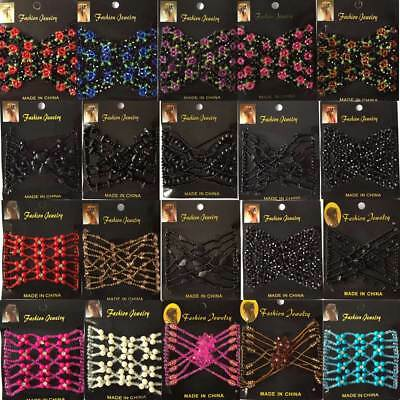 Women's Magic Beads Hair Clips Elastic Slide Easy Double Hair Comb Accessories