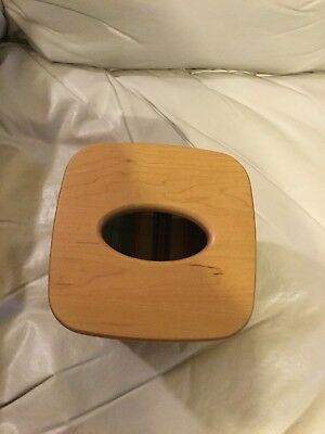 Longaberger 1993 Tall Tissue Basket With Woodcrafts Lid