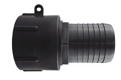 """IBC s60x6 coarse thread water tank/spillage tank outlet to 2"""" PP barb"""