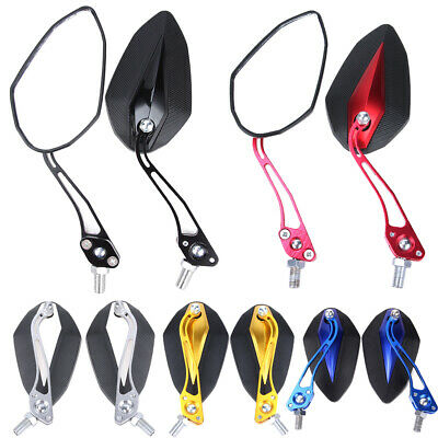 Universal Motorcycle Motorbike Scooter Rearview Rear View Side Mirrors 10mm 8mm