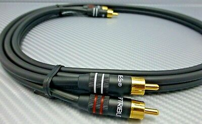 1 meter pair Competition Series RCA Interconnect Cables RAMM Audio S600
