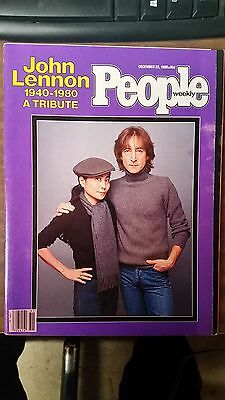 PEOPLE WEEKLY, Magazine, JOHN LENNON 1940-1980 A TRIBUTE