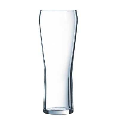 Arcoroc Edge Beer Glass 425ml - Pack of 24 | Glassware Toughened Glasses