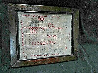 Antique Small  Childs Embroidery Sampler