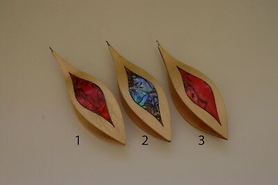 Wooden Tatting Shuttle Hand Made in Maple With Built-in Hook