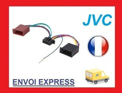 Cable adaptateur ISO autoradio JVC KD-PDR31 KD-PDR41 KD-PDR51 KD-PDR61 KD-SHX751