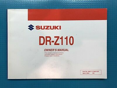 2005 Suzuki Motorcycle Dr-Z110 Drz110 Owners Manual