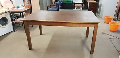 Vintage/antique wooden office desk/table Lot 2