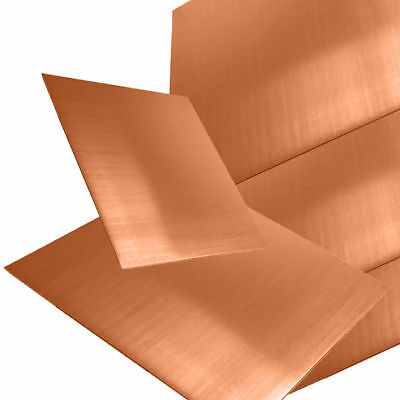 Copper sheet, 0.5mm Thick, Guillotine cut, jewellers, Model makers. POLISHED