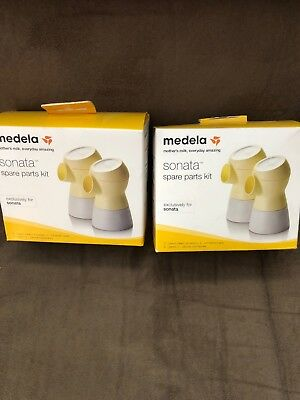New - Lot Of 2 Medela Sonata Spare Parts Kit #68054