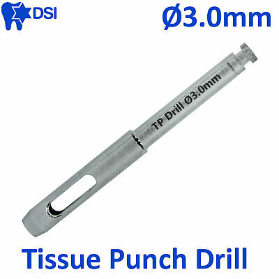 DSI Dental Implant Abutment Surgical Tissue Punch Drill Flapless Osteotomy Ø3.0