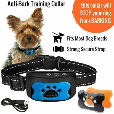No Bark Anti-Bark Dog Collar Stop Barking Small Medium Large Dog Rechargeable