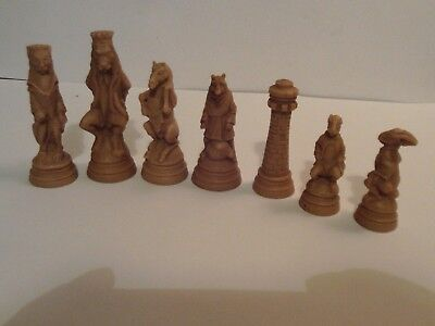 Reynard the Fox chess set latex moulds
