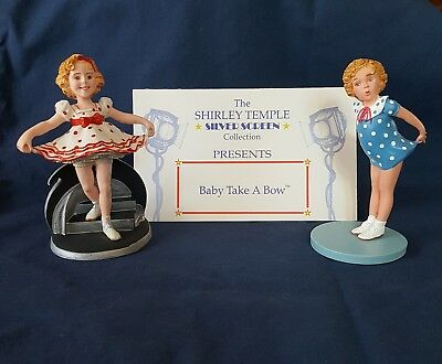 Shirley Temple The Silver Screen Collection, 2 figures, The Danbury Mint