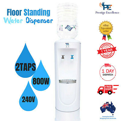 Floor Standing Water Dispenser Electric Machine for Office Home Cooler 2 Taps AU