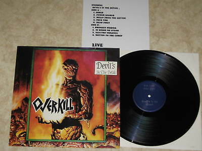 OVERKILL- Devil´s In The Detail/ Live Vinyl LP 1992/ GRINDING DECAY WINGS OF WAR