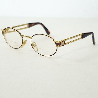 ae663db6c058d GIANNI VERSACE MOD S68 COL 55M Gold Brown Vintage Eyeglasses Frame Only  CASE TOO -  258.99