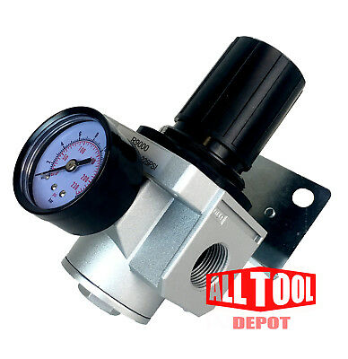 "Heavy Duty High Flow 3/4"" In-Line Compressed Air Pressure Regulator 160 Cfm"