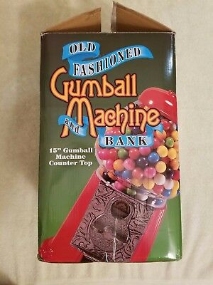 "Old Fashioned Gumball Machine and Bank Classic Red 15"" -- PARTS ONLY!!!"