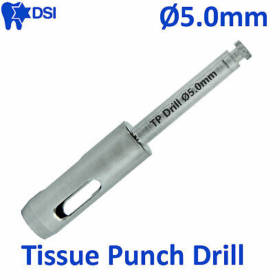 DSI Dental Implant Abutment Surgical Tissue Punch Drill Flapless Osteotomy Ø5.0