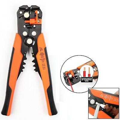 UK Self-Adjustable Automatic Cable Wire Crimping Tool Stripper Plier Cutter O/B
