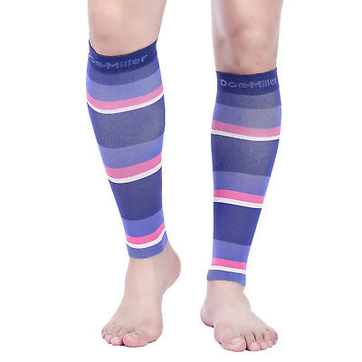 Doc Miller Calf Compression Sleeve 1Pair 20-30mmHg Varicose Vein PRP/PRP/PNK/PCH