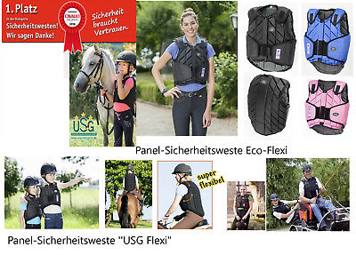 Sicherheitsweste Level 3 Eco Flexi Panel USG Reitweste Sturzweste Springweste !