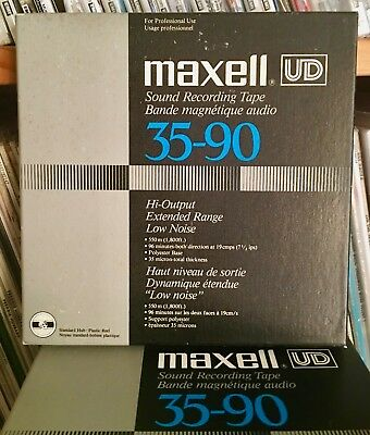 """Maxell UD 35-90 tape  7"""" X 1/4"""" X 1800ft reel-to-reel excellent PLAY TESTED"""