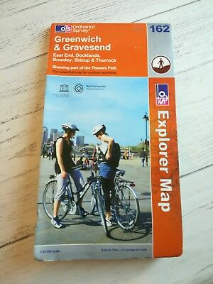 Greenwich and Gravesend by Ordnance Survey (Sheet map, folded, 2009)