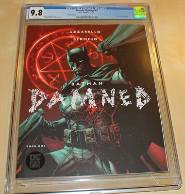 BATMAN DAMNED#1 1st App. DC Black Label - Uncensored CGC 9.8 Jim Lee Cover!!