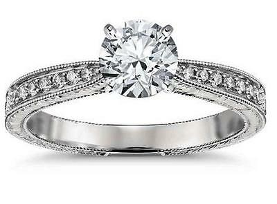 1.84ct Brilliant Cut Solitaire Diamond Engagement Ring 14k Solid White Gold