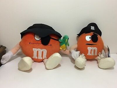 Lot 2 Orange Crispy M&m's Pirate Character Plush Toys Stuffed Animal Nanco World