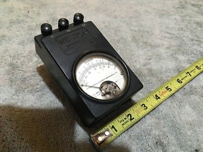 Antique Vintage Tube Radio Test Meter Weston Ohmmeter Model 689