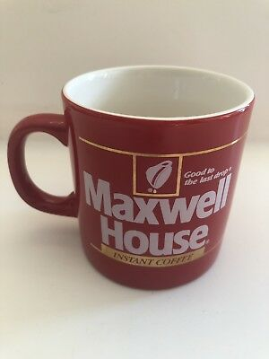 Collectable Vintage Maxwell House Instant Coffee Red Cup
