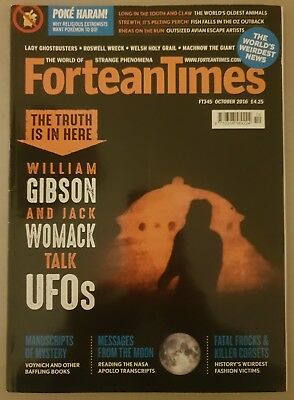Fortean Times Magazine  #345 Ft345 October 2016 Ufo's Aliens Paranormal